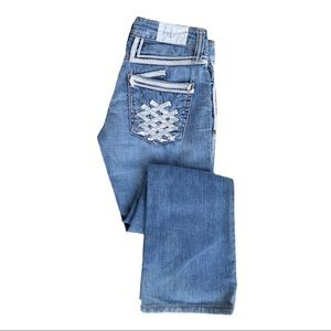 Taverniti So Jeans Angie Boot Cut Light Wash Sz 24